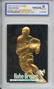 RARE-Graded-Gem-Mint-10-KOBE-BRYANT-1996-Skybox-23K-Black-Gold-ROOKIE-Card