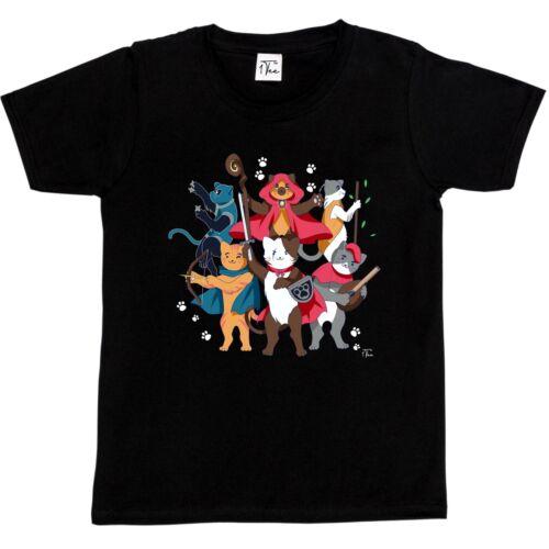 1Tee Kids Boys Dungeons /& Cats T-Shirt