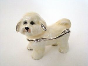 Jeweled-Trinket-Hinged-Box-Bichon-Frise-Dog