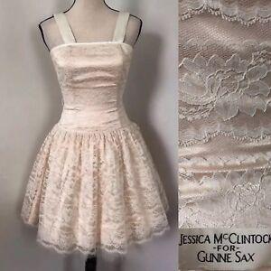 Image Is Loading 80s Jessica Mcclintock Gunne Sax 3 4 Lace