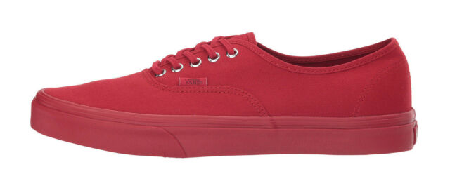 daf763b3116927 Vans Shoes Unisex Authentic Primary Mono Red Silver Burgandy Cardinal  Sneakers