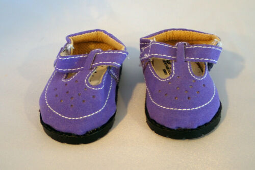 Purple  Suede T Strap Mary Jane Shoes Fits 18 inch American Girl Dolls