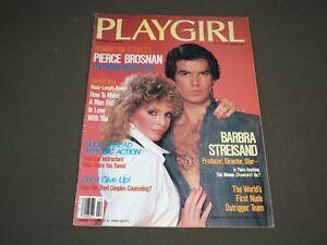 PLAYGIRL magazine PIERCE BROSNAN cover. February 1984