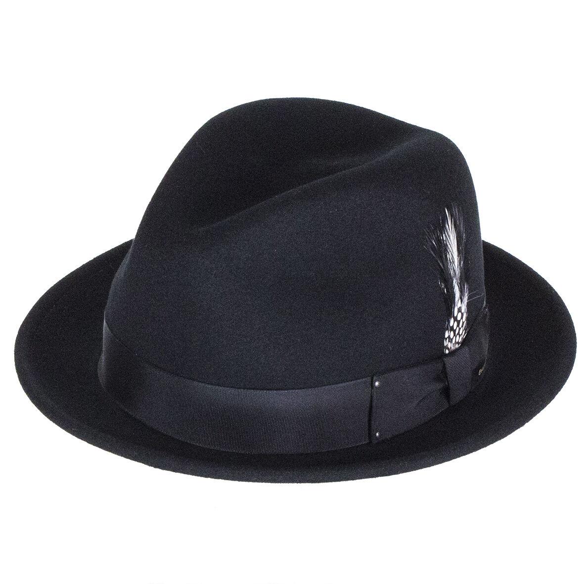 Bailey Hats Tino Crushable - Felt Trilby - Crushable Black 5c3e54