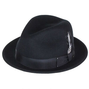 48cd3a560c8 Image is loading Bailey-Hats-Tino-Crushable-Felt-Trilby-Black