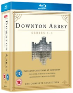 Hugh-Bonneville-Jessica-Br-Downton-Abbey-Series-1-3-Christmas-Blu-ray-NUOVO