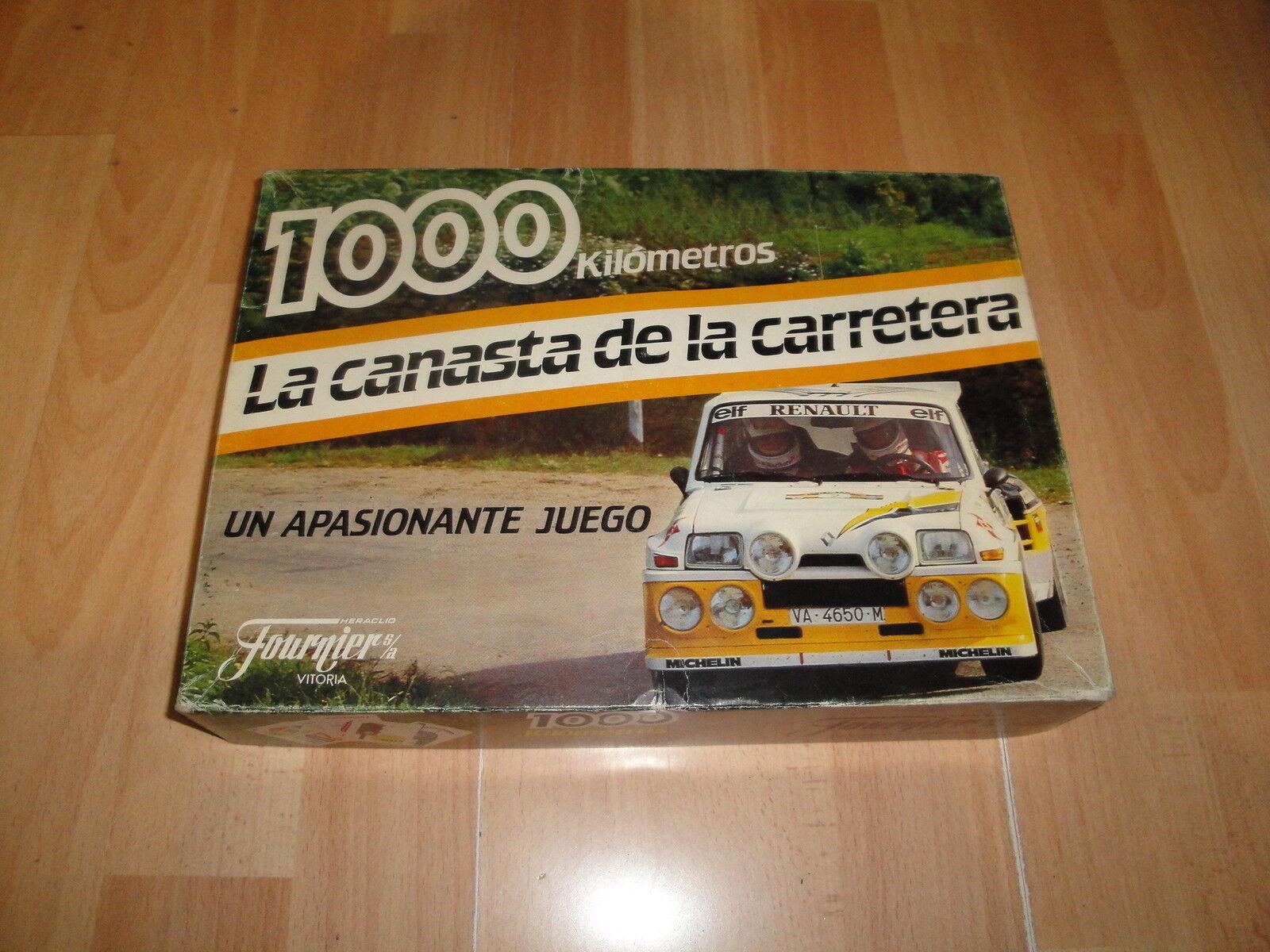 1000 KILOMETROS LA CANASTA DE LA CARRETERA JUEGO DE MESA DE FOURNIER BUEN ESTADO