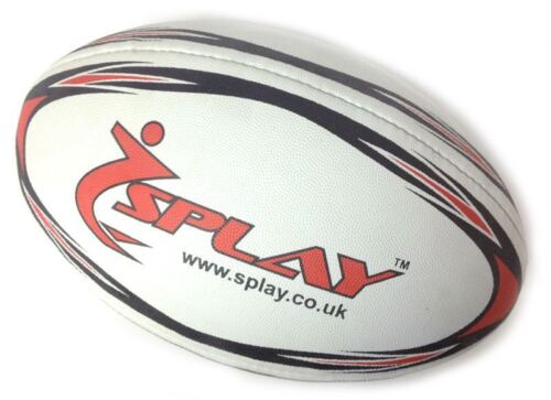 Splay Club Rugby Ball Rubber Pre Match balls Training coaching Size 3 4 5