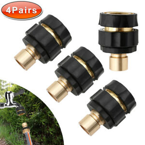 4-Pairs-Garden-Hose-Quick-Connect-Set-Pressure-Washer-Tap-Adapter-Connector-Fast