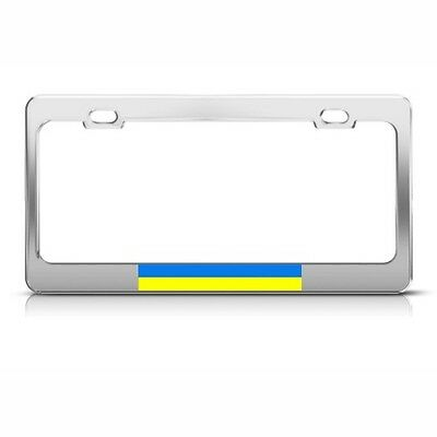 License Plate Frame Ukraine Flag Ukrainian Country Car