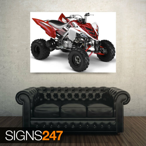 ATV POSTER AC041 YAMAHA 700R RAPTOR WHITE AND RED Poster Print Art A1 A2 A3