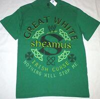 Sheamus Mens M Great White Irish Curse T-shirt Green Wwe Adult Pro Wrestling