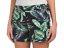 CYNTHIA ROWLEY TROPICAL PALM LEAF PRINT SHORTS Black Green Blue STRETCH SZ 8 NEW