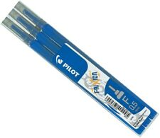 076300303 PILOT FRIXION FINE 0.5MM BLUE ERASABLE ROLLERBALL PEN REFILLS 3 PACK