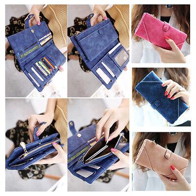 Women Fashion Leather Wallet Button Clutch Purse Lady Long Handbag Bag Top Class