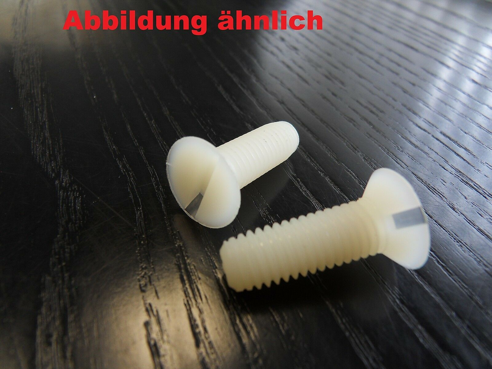 Senkschrauben mit Schlitz DIN 963 aus Kunststoff PA 6.6