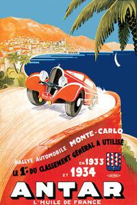 POSTER AUTODROMO SITGES 1923 CAR RACING BARCELONA SPAIN VINTAGE REPRO FREE S//H