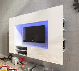 Living-room-furniture-set-hanging-unit-floating-Tv-cabinet-white-LED-light