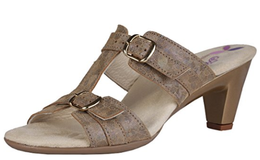 Helle Comfort Elfe Bronze Wedge Sandal Women's sizes 37-41 NEW