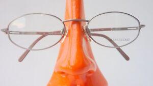 con montatura Lezard Occhiali M in da Rene Small Size Silver vista metallo Discreet Glasses iOTZPkXu
