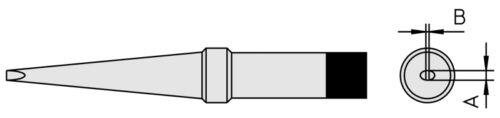 Weller PT-M9 Lötspitze meißelförmig 480°C PTM9 für Lötkolben FE50M // TCPS