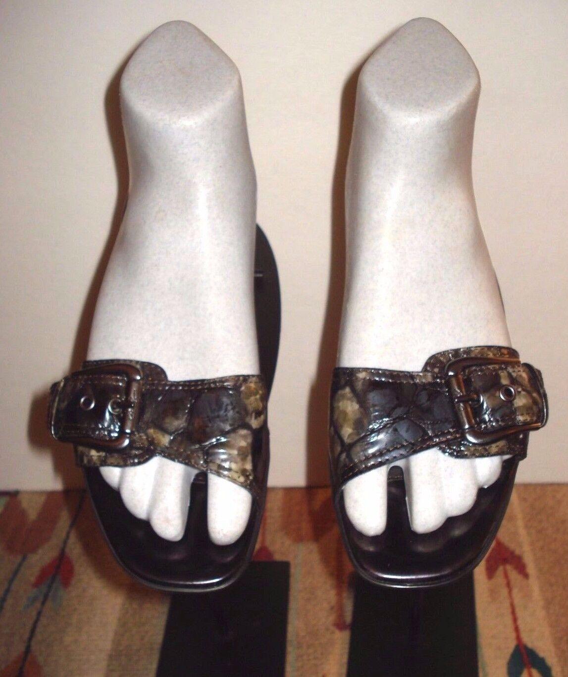 Donald J. Pliner   Kelsi  Mottled Faux-Croc Kitten Heel Slide Sz. 8M MINTY