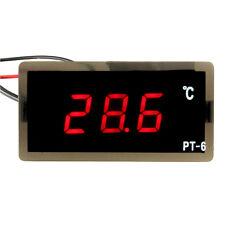 12V Car Digital Thermometer LED Embedd Temperature Meter Sensor Probe -40~110°C