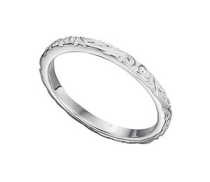 Ladies-925-Sterling-Silver-Textured-Pattern-Scroll-Band-Ring-Sizes-K-R-1-2