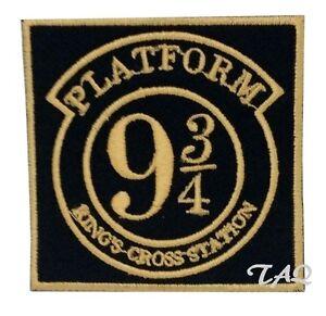 Platform 9 3//4 Iron Sew On Embroidered Patch Badge Harry potter UK Seller