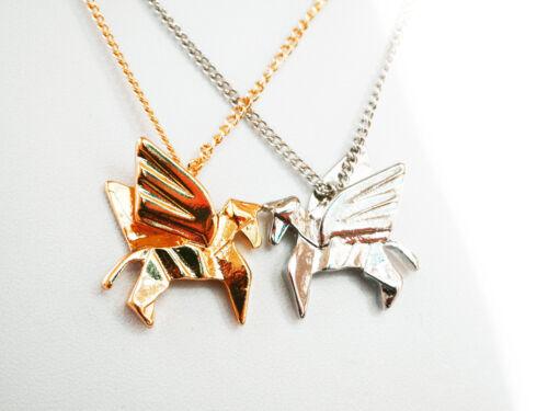Halskette mit  Pegasus-Tiermotiv-Anhänger
