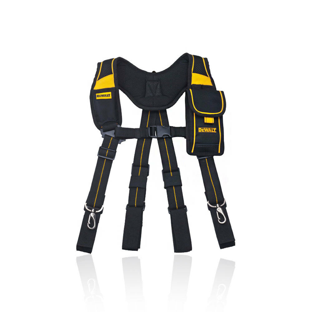 Dewalt Work Tool Belt DWST80915-8 Suspender Support Pouch 4 Clip Padded