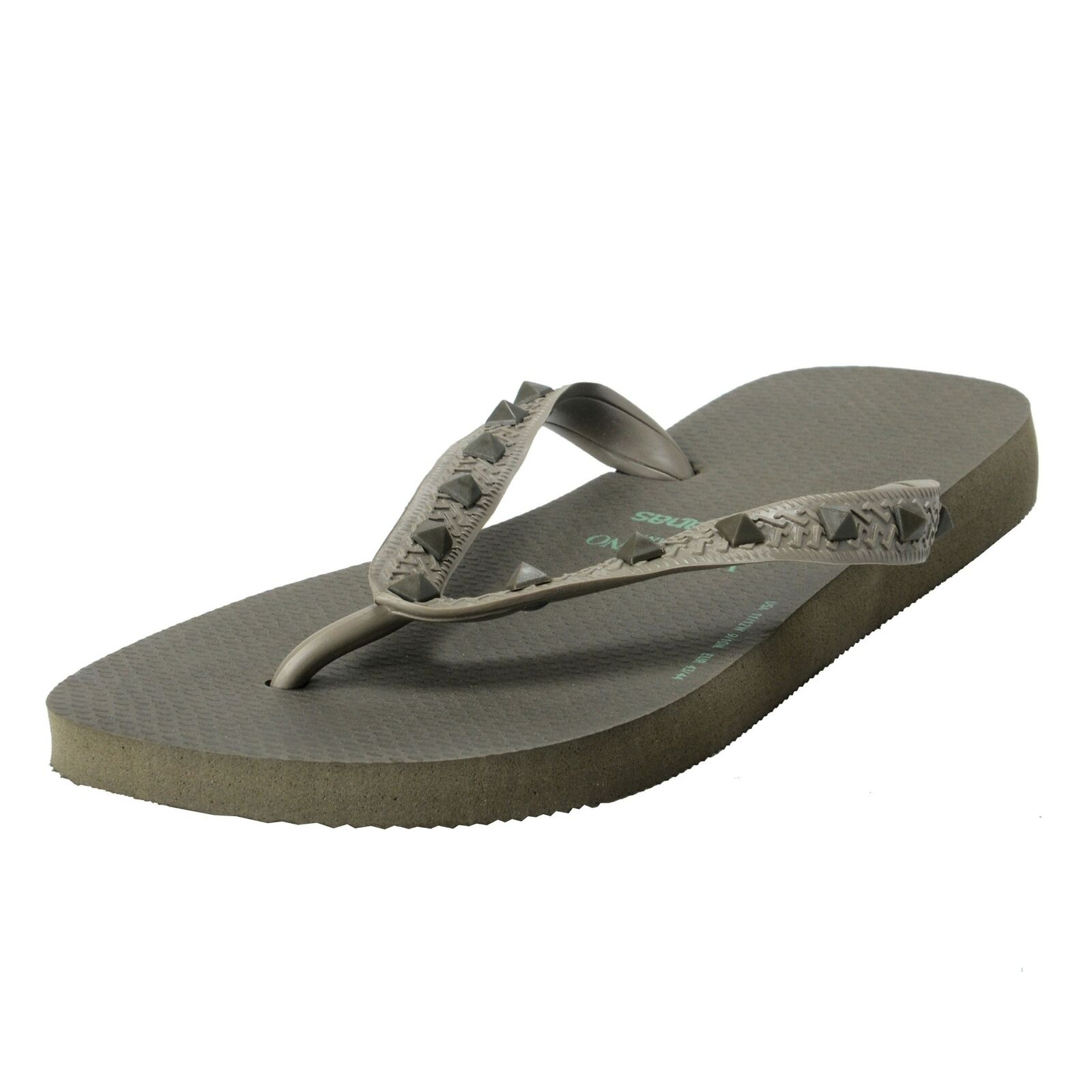 Valentino Garavani por Havaianas Para hombres Zapatos Flip Flop gris Ejército rockstud