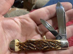 CAMILLUS NY USA #33 EASY OPEN LP JACK POCKET KNIFE USED