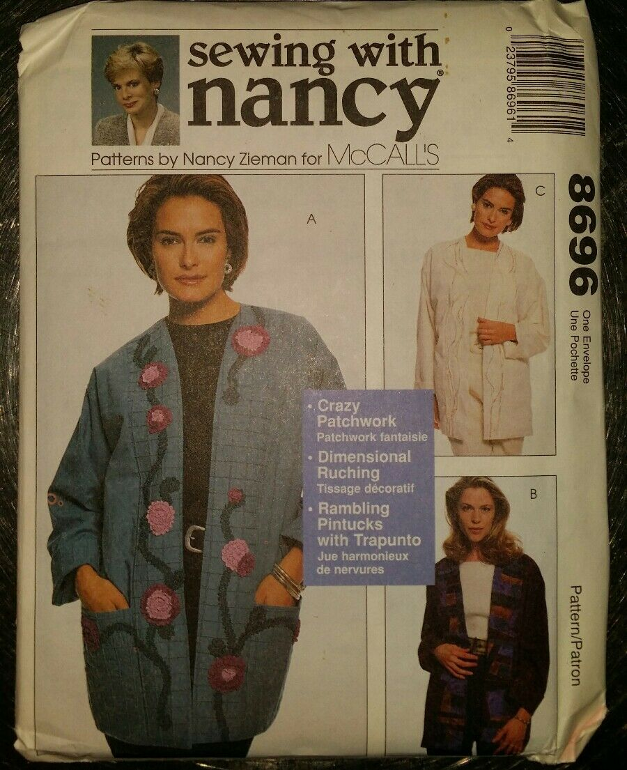 8696 UNCUT Vintage McCalls SEWING Pattern Nancy Zieman Lined Jackets