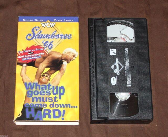 WCW Slamboree '96 (VHS) 1996 **RARE** WWF WWE NWO