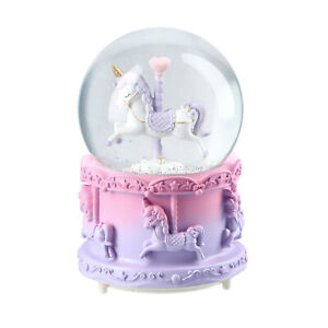 Home-Decor-Table-Top-Decoration-Christmas-Musical-Snow-Globe-Sweet-Dream-Unicorn