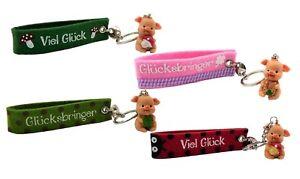 4-Filz-Schluesselanhaenger-Gluecksschwein-Figur-Schluesselband-Gluecksbringer-Glueck