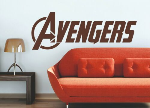 The Avengers Logo Marvel Art Deco Vinyl Wall Sticker Age of Ultron XXL 1.5 m