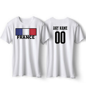fd744465c3b France Soccer Jersey T shirt Flag Pride World Cup Sports Youth ...