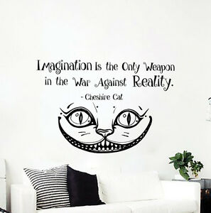 Image Is Loading Alice In Wonderland Wall Decal Cheshire Cat Quote