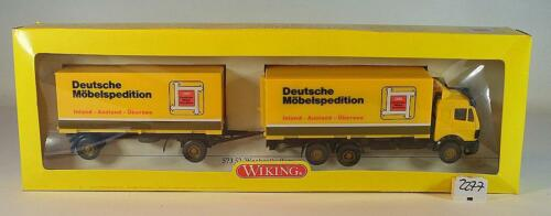 Wiking 1//87 Mercedes Benz Wechselkoffer DMS Deutsche Möbel Spedition OVP #2277