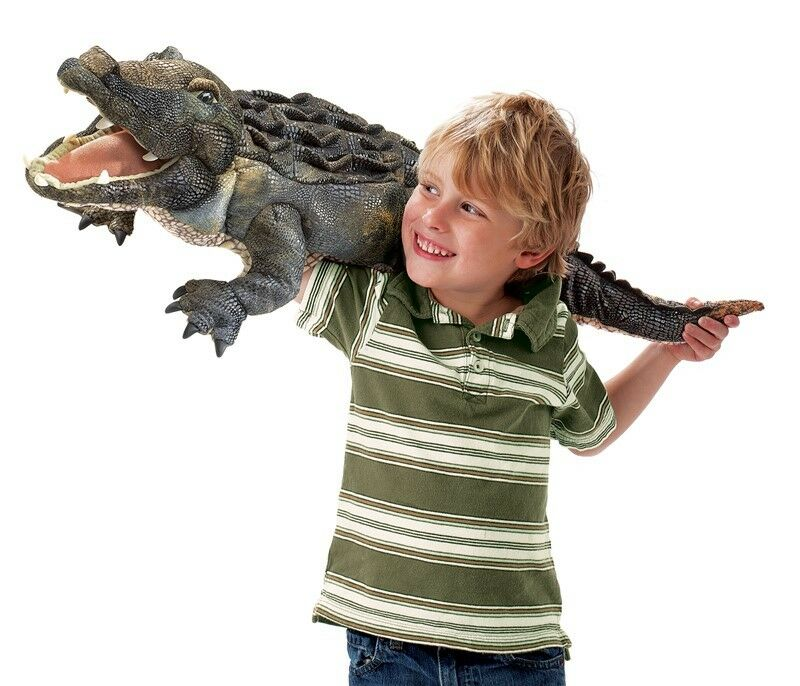 American ALLIGATOR Puppet USA  31  Long Folkmanis Puppets