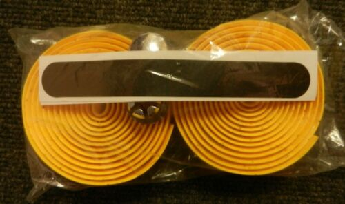 New bicycle handlebar wrap peppered yellow includes end plugs