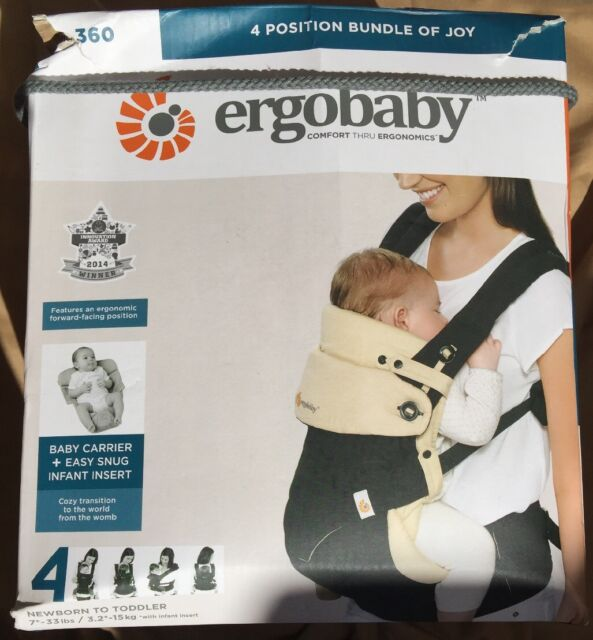39aa5c67d07 Ergobaby 360 Bundle of Joy 4 Position Baby Carrier Black Camel With ...