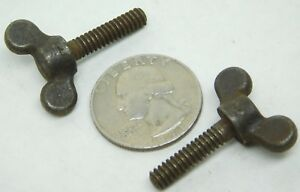 """PACK OF 4! Wing Screw Plain Steel #10-24 x 3/4"""" in Thumb Bolt Vintage Style NH"""