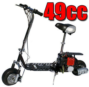 Fastest-New-All-Terrain-49cc-2-Stroke-Gas-Motor-Scooter-SILVER-IN-COLOR