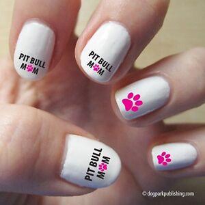 Image Is Loading Pit Bull Mom Nail Art Hot Pink