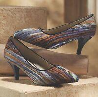Womens Midnight Velvet Multi Color Yarn Pumps Heels Shoes Size 7.5m 7.5 M
