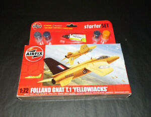 Maquette-Airfix-Folland-Gnat-T-1-039-Yellowjacks-039-Stater-set-1-72