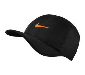 f0c8082d8f71c NEW NIKE Dri-Fit Feather Light Hat Cap 679421- 022 Run Tennis Black ...